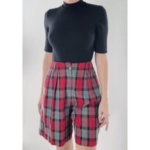 Vintage 90s Express Plaid High Rise Shorts